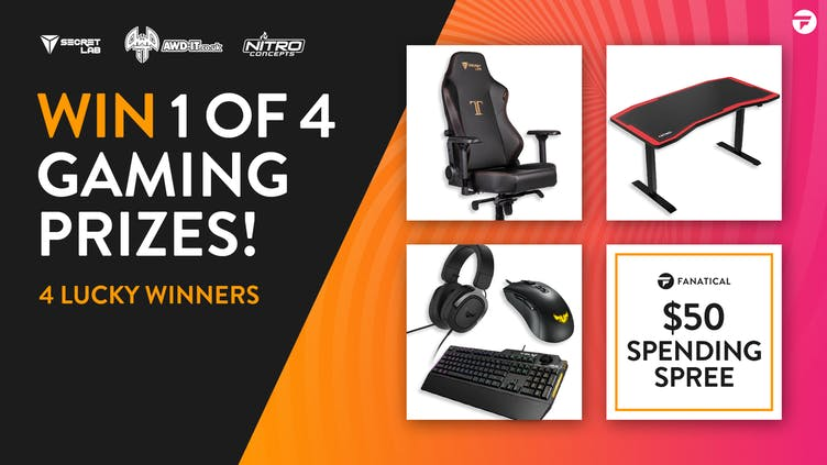 Win 1 of 4 insanely good gaming prizes in Fanatical giveaway