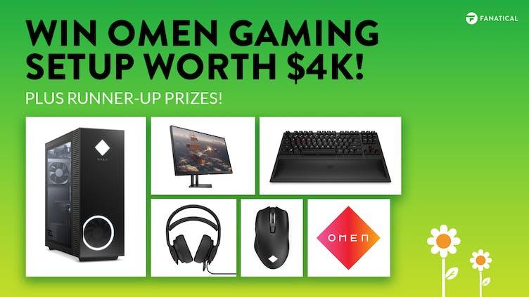 Chance to win OMEN PC gaming setup worth $4k