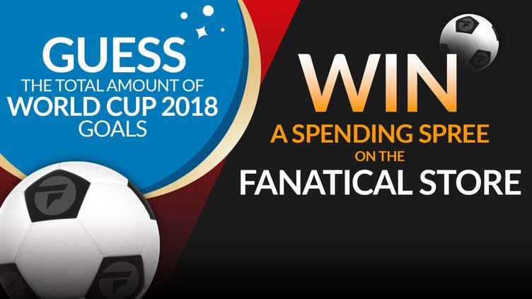 Win a shopping spree by guessing total World Cup 2018 goals