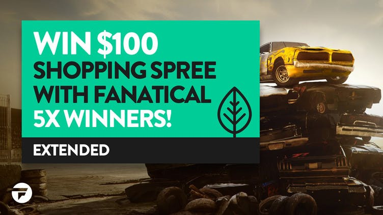 Chance to win 1 of 5 $100 shopping sprees with Fanatical