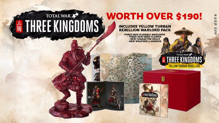 Win Total War: Three Kingdoms Collector's Edition worth over $190