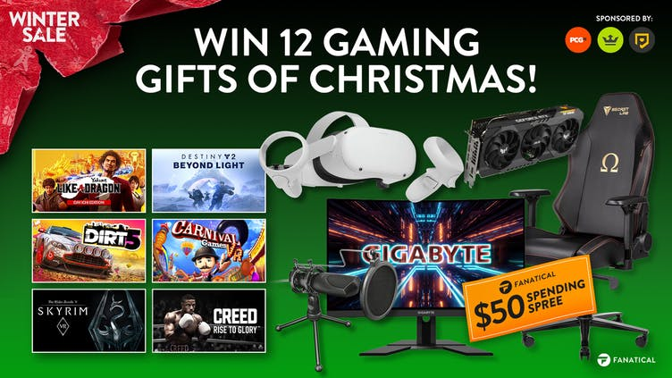 Win 12 gaming gifts of Christmas with Fanatical - Awesome prizes up for grabs