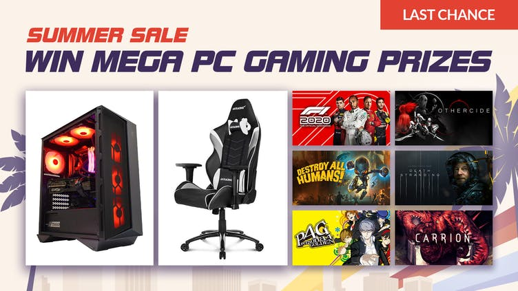 Win a PC build, gaming chair and games with Fanatical