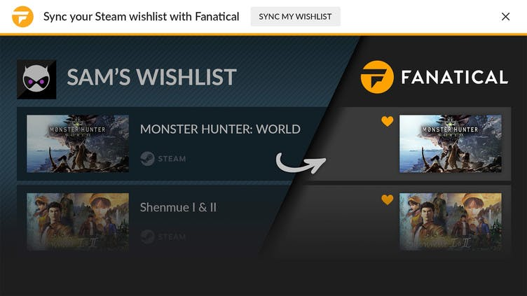 How to sync your Steam Wishlist with Fanatical Assistant