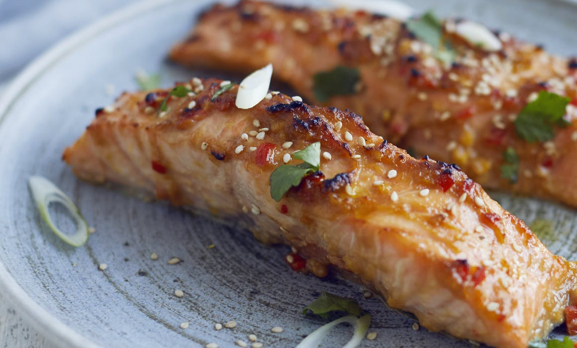 Grilled Salmon with Miso, Ginger and Sesame