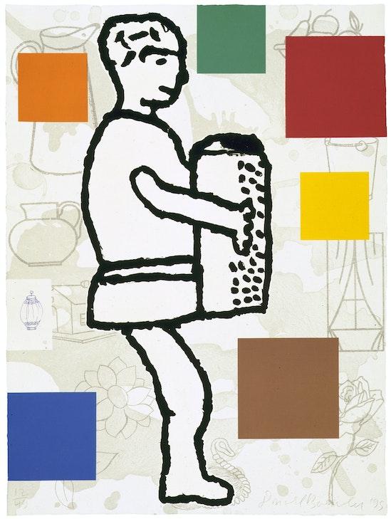 Donald Baechler, The Accordion Player #1, 1995