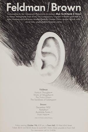 Feldman/Brown Town Hall Concert, October 11, 1963