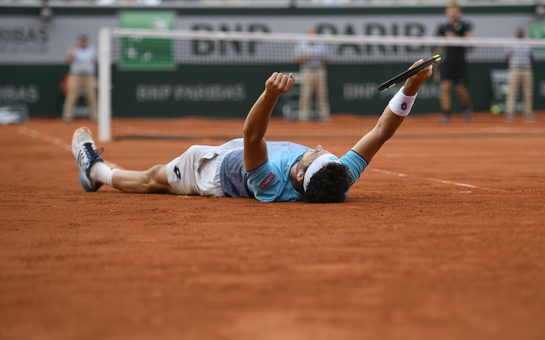 Marco Cecchinato, Roland Garros 2018, Simple Messieurs, 1/8 de Finale