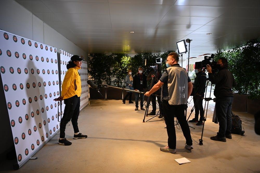Garbiñe  Muguruza, Media Day, Roland-Garros 2020, vendredi 25 septembre