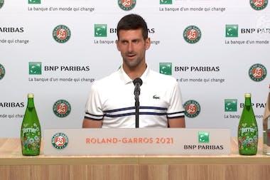 Novak Djokovic press