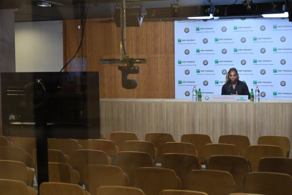 Serena Williams, Roland-Garros 2020, conférence de presse
