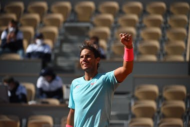 Rafael Nadal after his victory against Korda at 4th round / Roland-Garros 2020