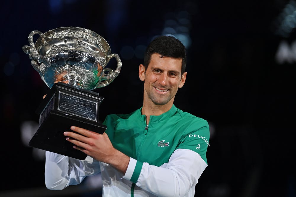 Novak Djokovic at the Australian Open 2021