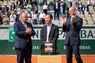 Michael Chang ceremony Roland Garros 2019