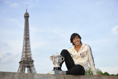 Francesca Schiavone Roland-Garros 2010 Paris tour Eiffel.