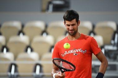 Novak Djokovic, Roland Garros 2020, practice