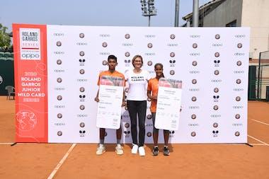 Dev V Javia, Mary Pierce & Vaishnavi Adkar Roland-Garros wild card series by OPPO