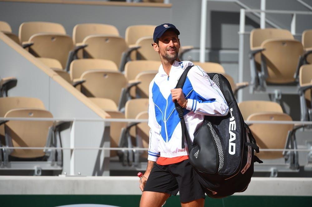 Novak Djokovic, Roland-Garros 2020, entraînement