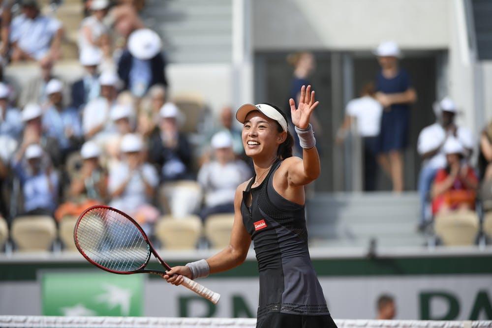 Qiang Wang 's joy Roland-Garros 2018