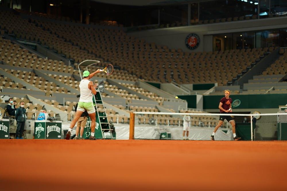 Nadal Zverev practice Roland-Garros 2020