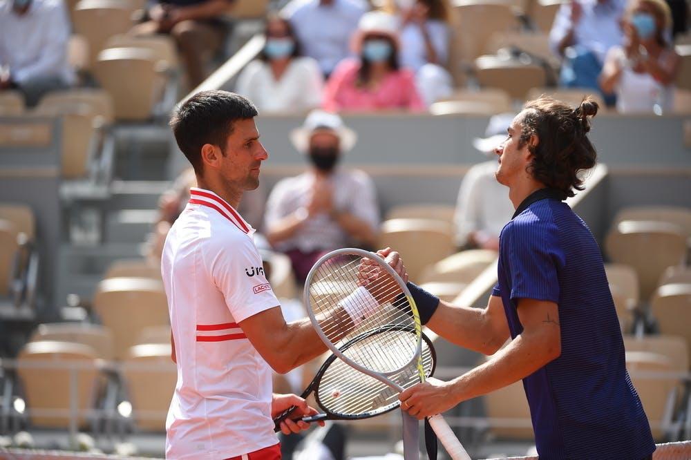 Novak Djokovic, Lorenzo Musetti, Roland Garros 2021, fourth round