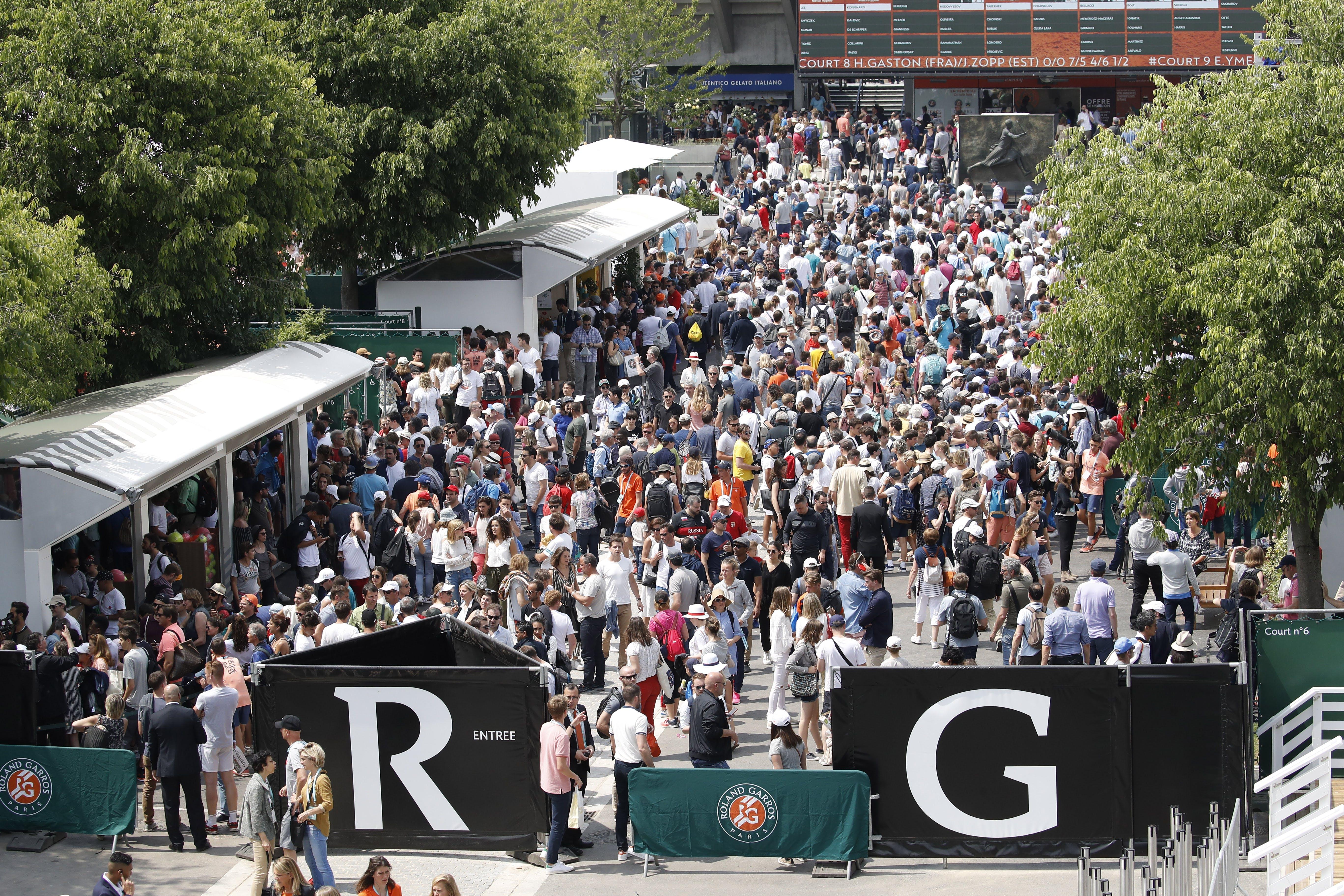 Qualifications Roland-Garros 2018 Allée principale
