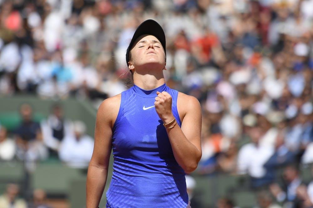 Elina Svitolina in action at Roland-Garros in 2017