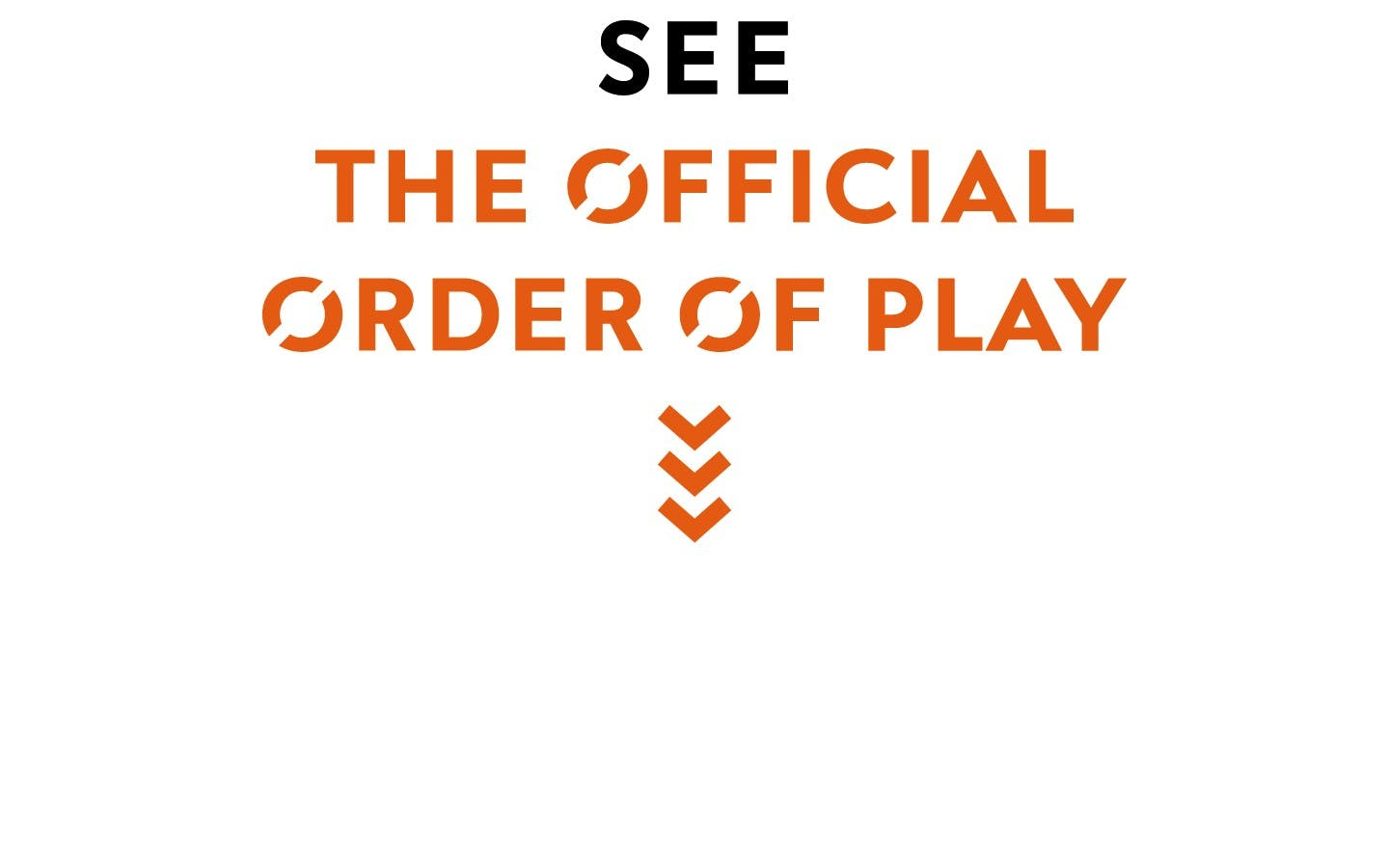 Order of play - Logo