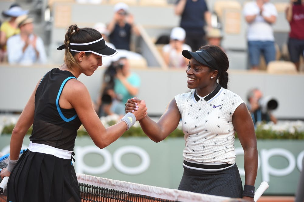Sloane Stephens and Garbine Muguruza