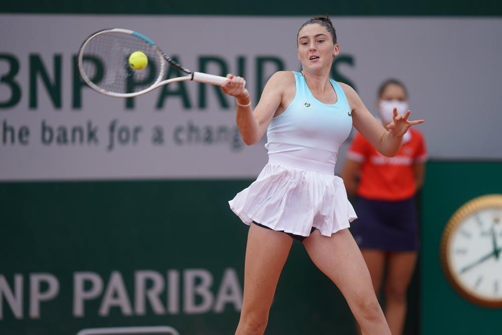 Elsa Jacquemot, Roland Garros 2020, girls' singles, second round