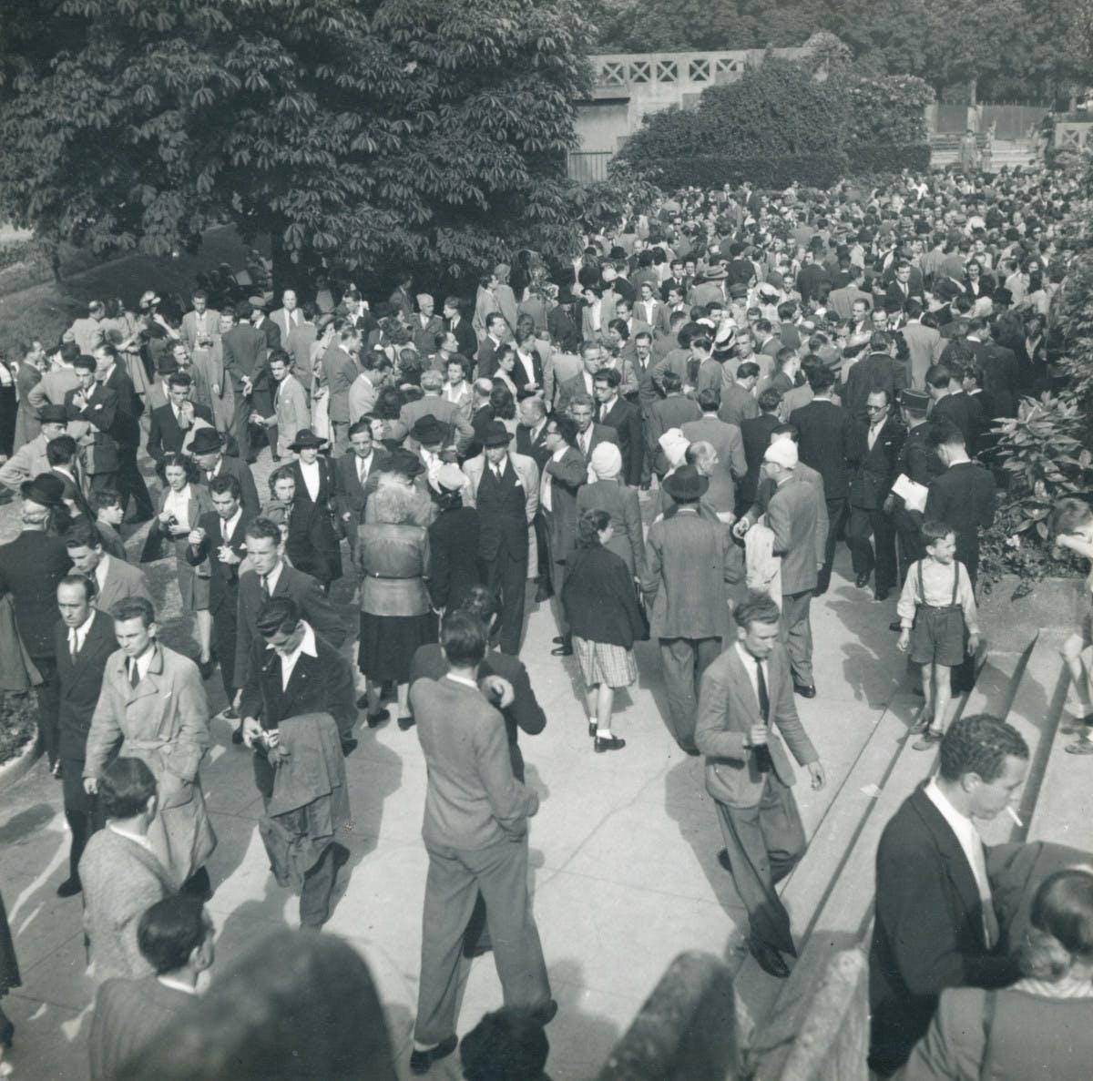 Stade Roland-Garros dans les années 1950.