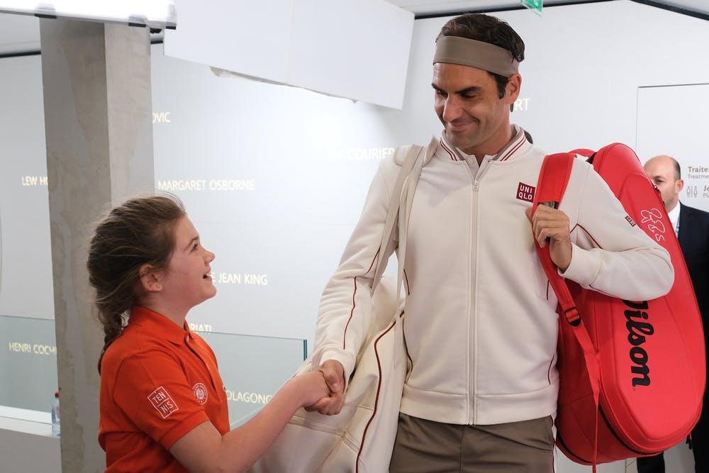 Roger Federer Entrée de Rêve Roland-Garros 2019