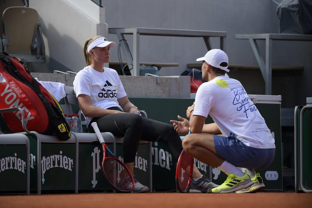 Elena Rybakina, Roland-Garros 2021 practice