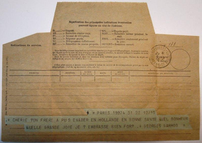 Roland Garros l'aviateur s'évade Première guerre mondiale.