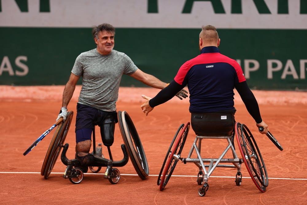 Stephane Houdet, Nicolas Peiffer, Roland-Garros 2021, men's wheelchair doubles semi-final