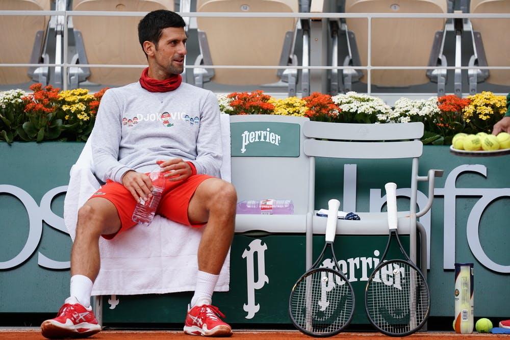 Novak Djokovic, Roland Garros 2020, semi-finals warm-up