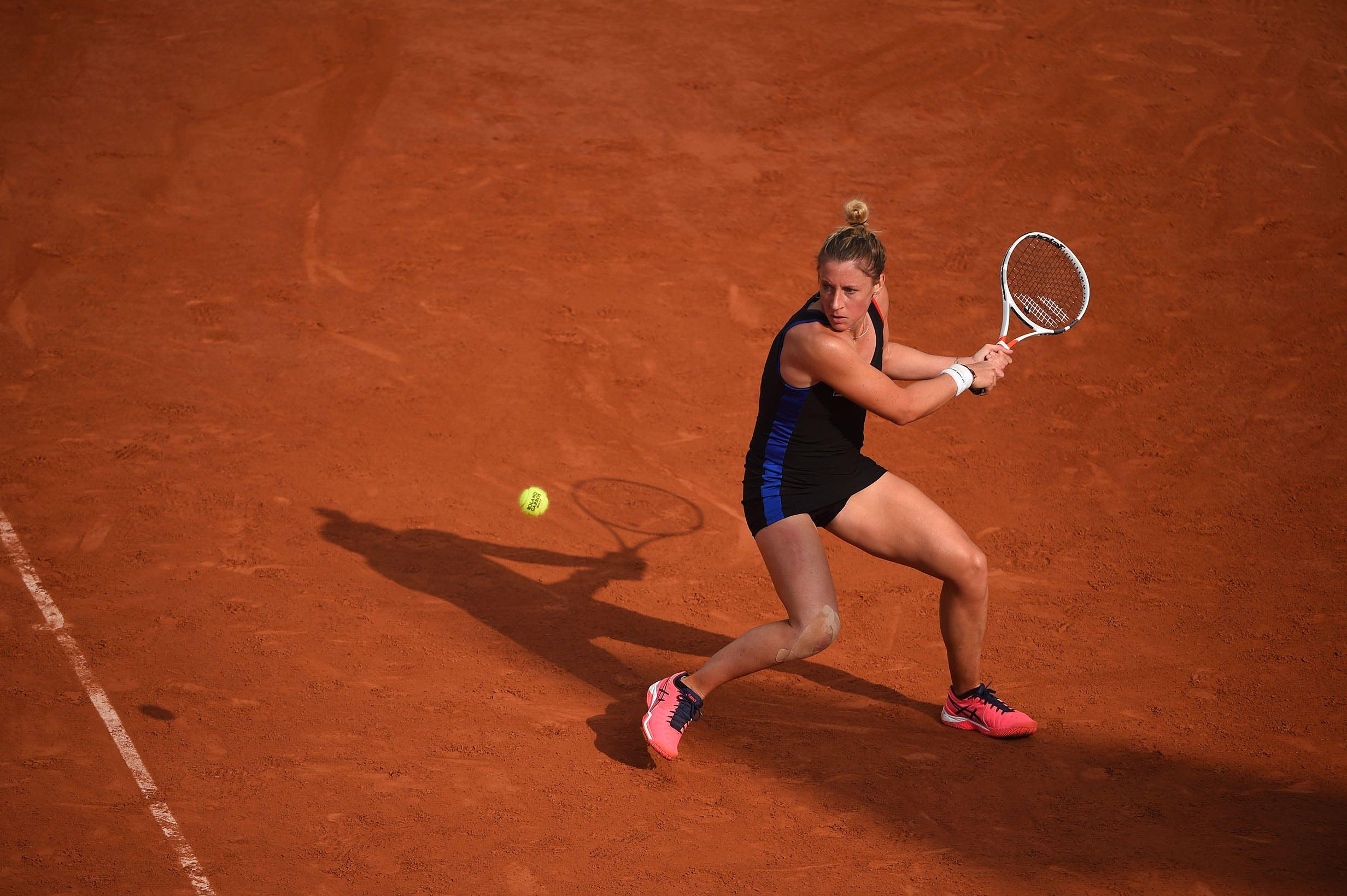 Pauline Parmentier à Roland-Garros 2017.