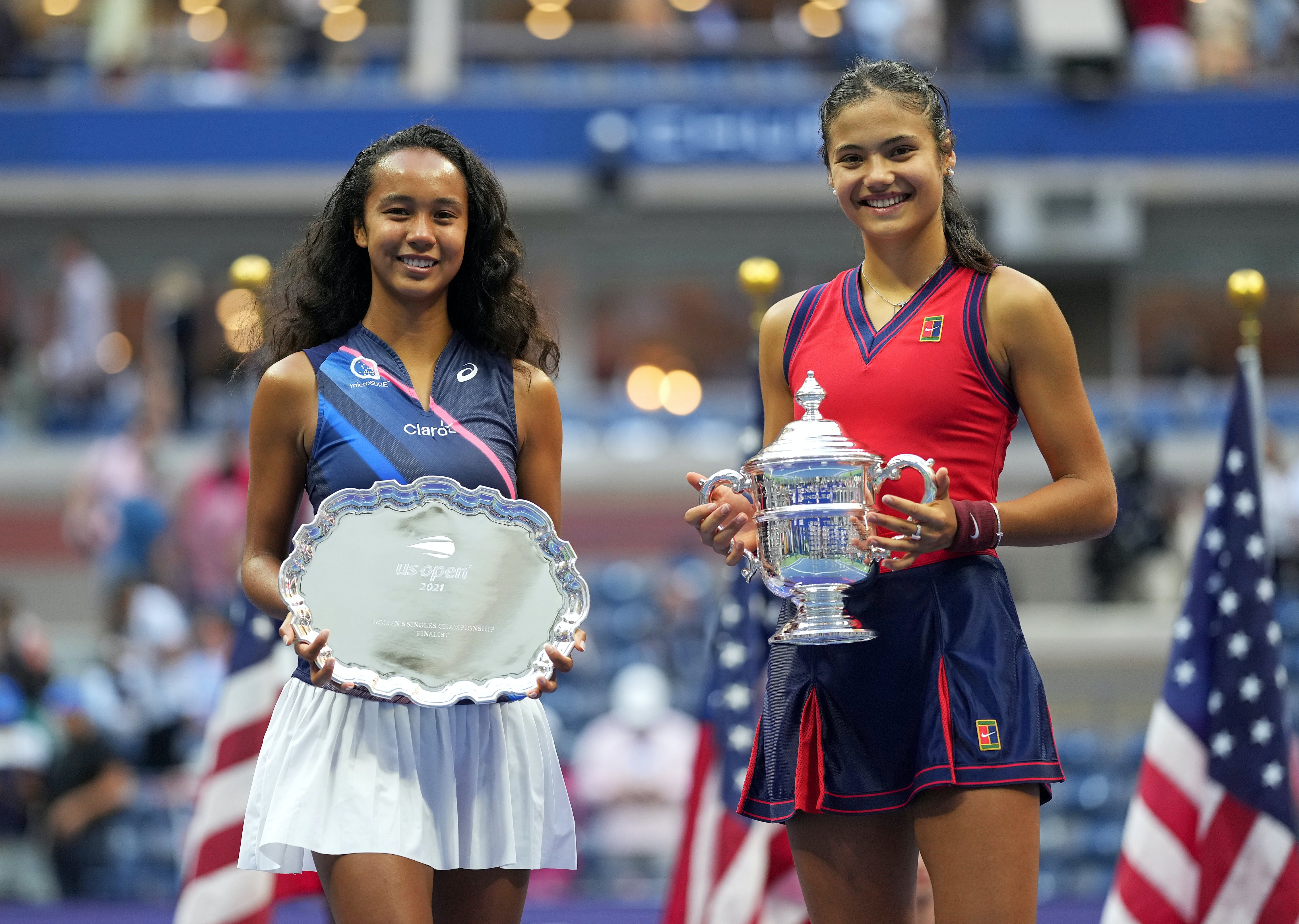 Leylah Fernandez & Emma Raducanu / US Open 2021