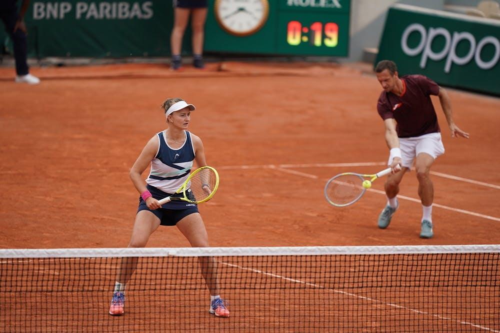 Barbora Krejcikova, Filip Polasek, Roland-Garros 2021, mixed doubles quarter-finals