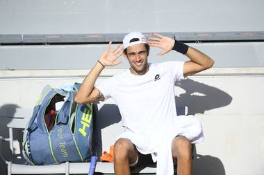 Matteo Berrettini, Roland Garros 2020, practice