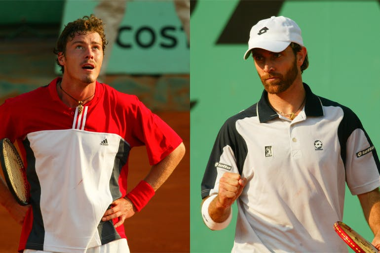 Marat Safin and Felix Mantilla, second round at Roland-Garros 2004