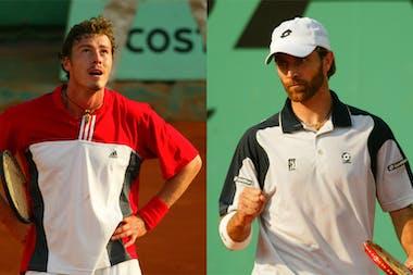 Marat Safin and Felix Mantilla, second round at Roland-Garros 2004