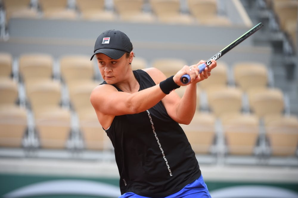 Ashleigh Barty, Roland Garros 2021, practice with Naomi Osaka