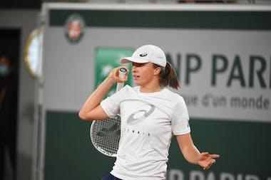Iga Swiatek, Roland Garros 2021, practice