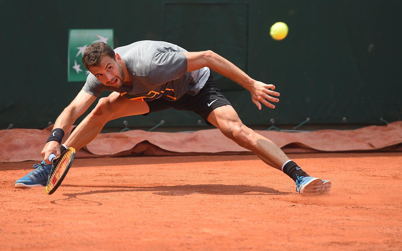 Roland-Garros 2018, Grigor Dimitrov, entraînement, practice