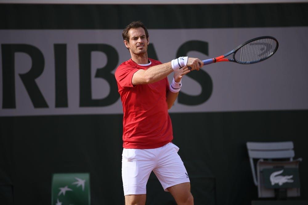 Andy Murray, Roland-Garros 2020, practice