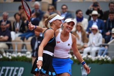 Timea Babos et Kristina Mladenovic - RolandGarros 2019 - finale double dames