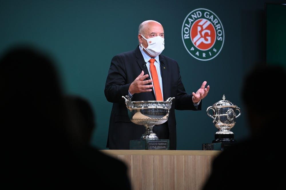 Bernard Giudicelli, Président de la FFT, lors du tirage au sort de ce Roland-Garros 2020.