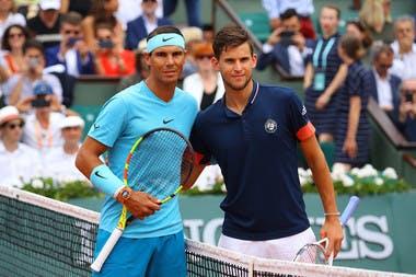 Rafael Nadal et Dominic Thiem, Roland-Garros  2018