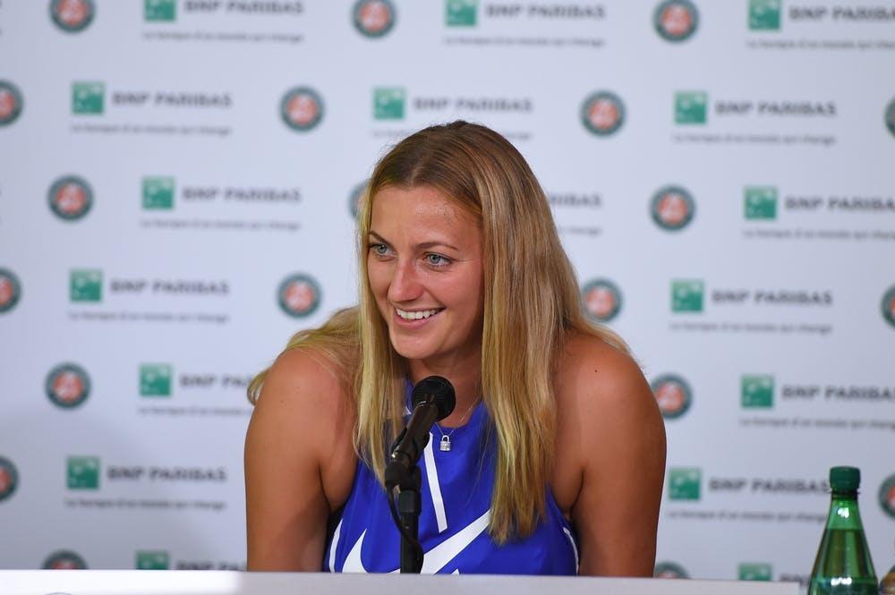 Petra Kvitova smiling during media day at Roland-Garros 2017